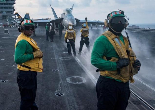 Cận cảnh tàu sân bay Mỹ trên đường tới bán đảo Triều Tiên - ảnh 5