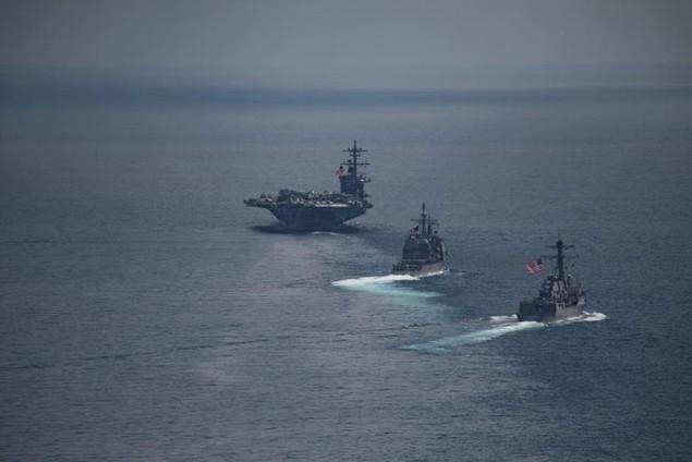 Cận cảnh tàu sân bay Mỹ trên đường tới bán đảo Triều Tiên - ảnh 8