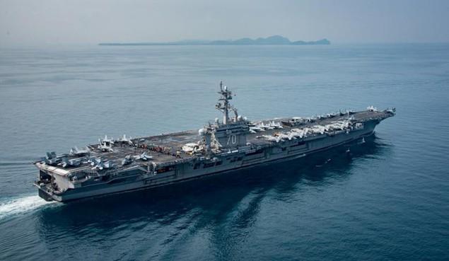 Cận cảnh tàu sân bay Mỹ trên đường tới bán đảo Triều Tiên - ảnh 10
