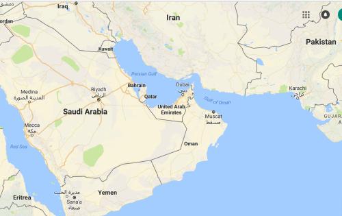 Bản đồ các nước tại khu vực Trung Đông