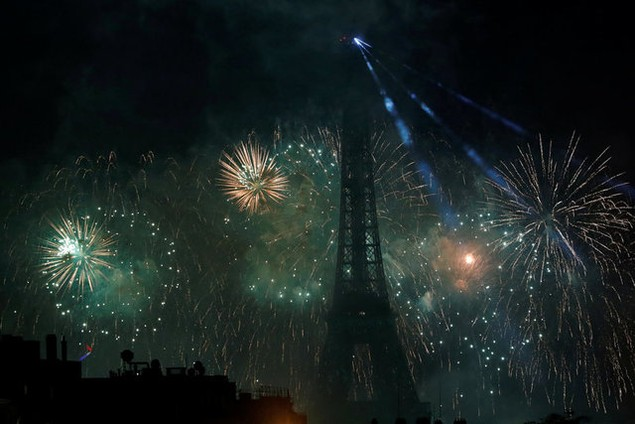 Các hoạt động mừng quốc khánh tại Pháp hôm qua được tổ chức trong điều kiện an ninh được thắt chặt (Ảnh: Reuters)