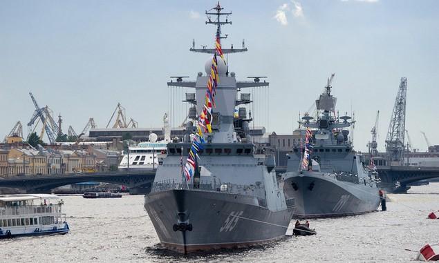 Tàu chiến, máy bay Nga duyệt binh trong Ngày Hải quân - ảnh 5