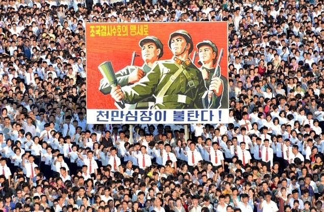 Biển người Triều Tiên phản đối lệnh trừng phạt của Liên Hợp Quốc - ảnh 5