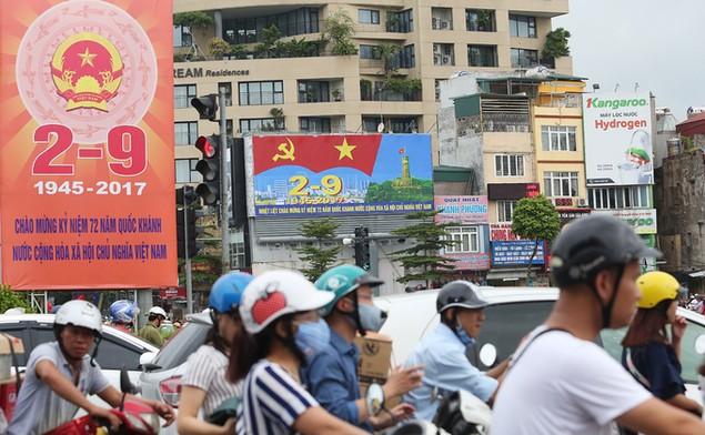 Hà Nội trang hoàng cờ hoa trước ngày Quốc khánh - ảnh 6